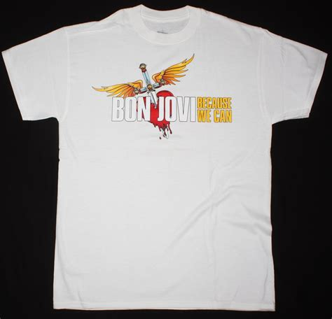Bon Jovi T Shirt Because We Can Tour Size L Xl Kaos Band Import Ori bon jovi because we can the tour europe 2013 new white t shirt best rock t shirts