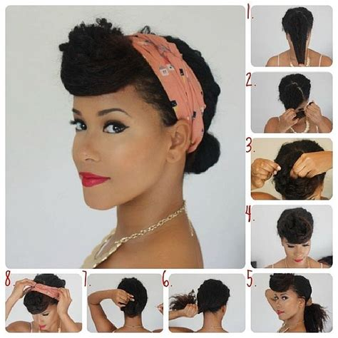 pin up for black natual hair love for curly hair retro updos curlyhair pinup