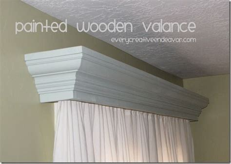 Crown Molding Valance painted wooden valance using crown molding from amanda jones valance home sweet home