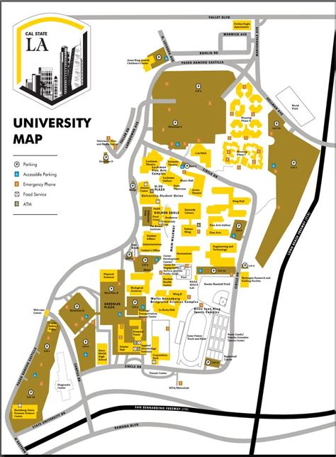 Cal State La Mba Scholarships by Cus Map California State Los Angeles