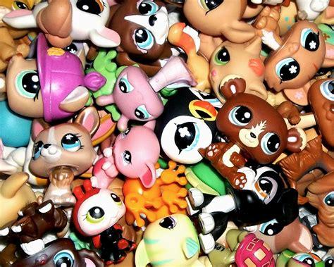 littlest pet shop 4 pc lps grab bag 2 pets 2