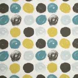 grey pattern drapery fabric teal yellow grey geometric cotton upholstery fabric