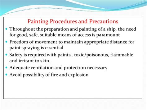spray painting safety procedure marine coating assigment