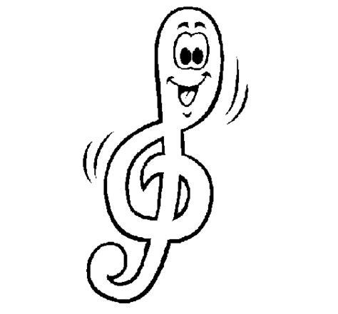 treble clef coloring page coloringcrew com