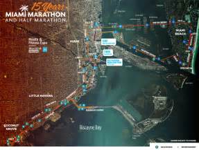 Miami Traffic Map by Traffic Alert Miami Marathon January 29 2017 Village