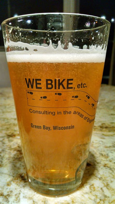 bike pint glass  bike
