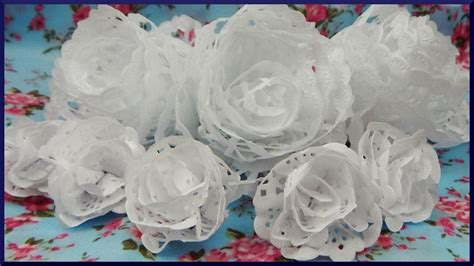 How To Make Flowers Out Of Paper Doilies - how to make flowers out of paper doilies image collections