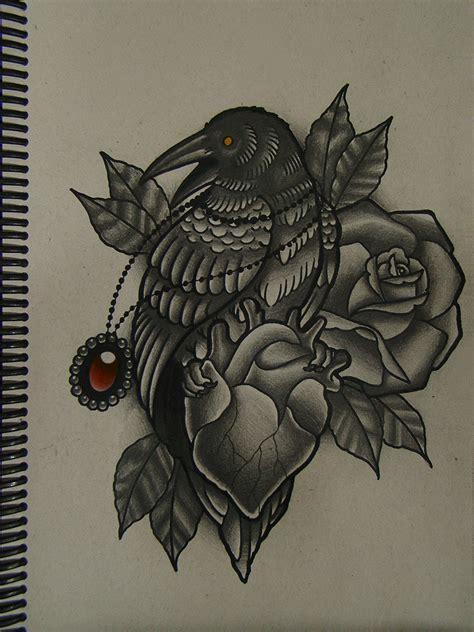 crow heart by frah on deviantart