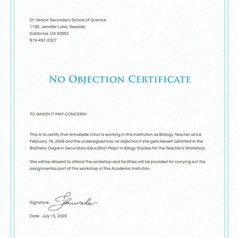 no objection letter format for employee best resume gallery