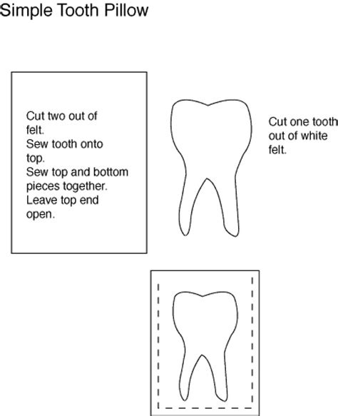 tooth pillow template 120 best images about tooth on tooth