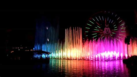 world of color sections world of color finale tron encore from the bridge blue