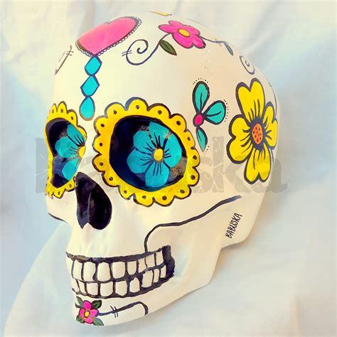 imagenes de calaveras pintadas calavera mexicana pintada a mano grande babuska elo7