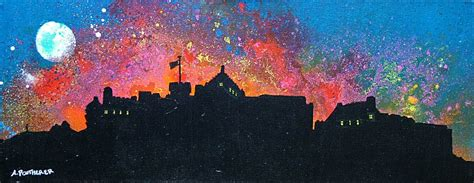 spray painting edinburgh paintings prints of edinburgh castle fireworks new