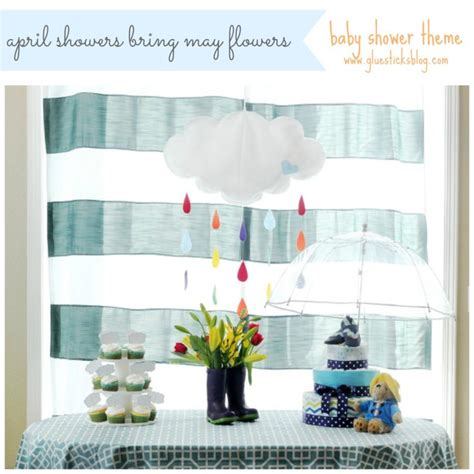 April Showers Baby by April Showers Themed Baby Shower Gluesticks
