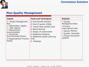 project quality management plan template pmbok project quality management pmbok 5th edition