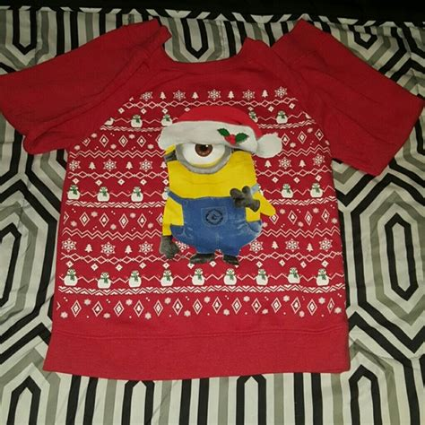 Sweater Minion 07 despicable me minion made minion sweater from preloved appeal s closet on poshmark