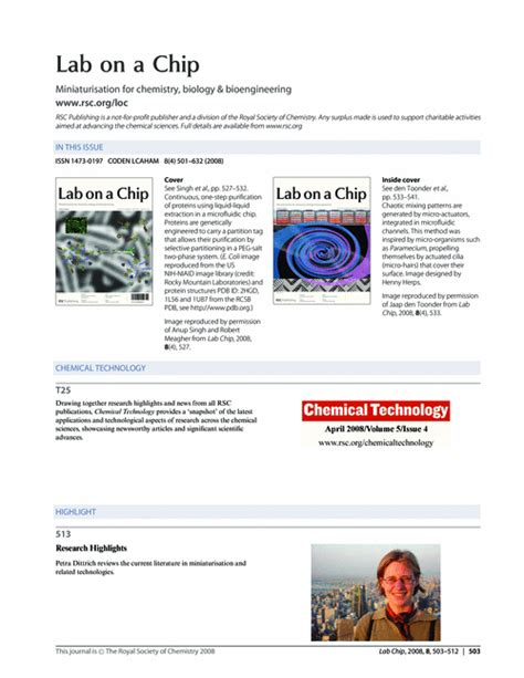 lab on a chip template contents and chemical technology lab on a chip rsc
