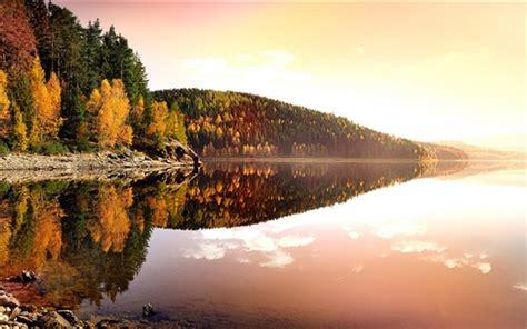 bilder zum herbst 4393 deutschland herbst natur sonnenuntergang b 228 ume see