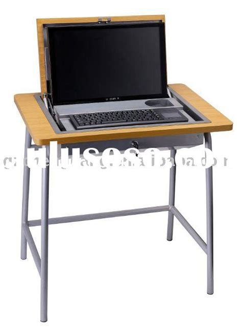 hidden computer monitor desk motorized flip top monitor for conference for sale