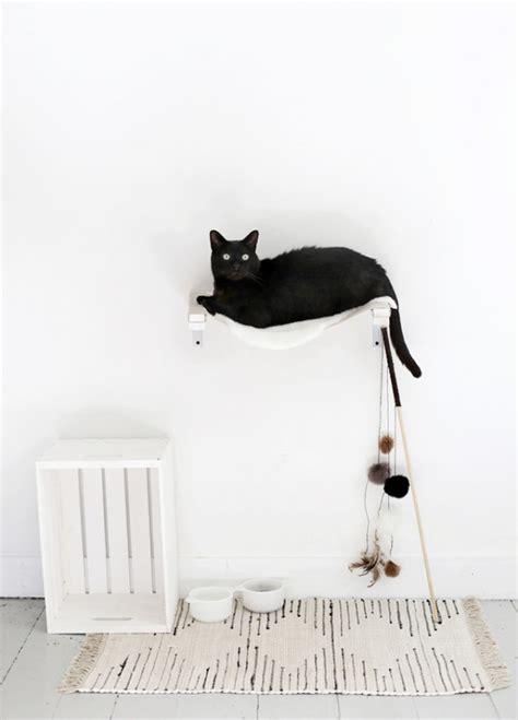 diy animaux comment fabriquer un lit pour chat original