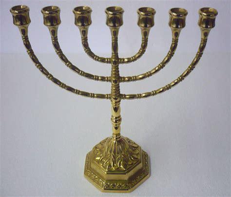 candeliere ebraico antica soffitta candelabro 31cm menorah ebraico ottone