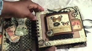 Vintage Wedding Albums Scrapbooking Vintage Paperbag Mini Album Youtube