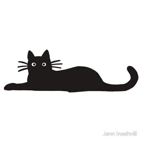 tattoo black cat silhouette black cat sticker by jenn inashvili black cats face
