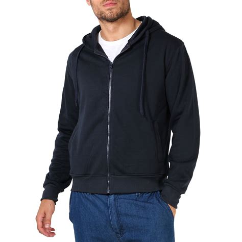Basic Sweater Jaket Wars mens plain basic zip up fleece hoodie hooded cotton