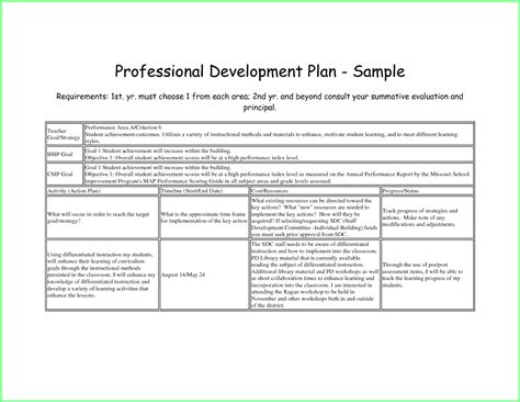 professional action plan template 8 sle career action