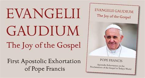 evangelii gaudium evangelii gaudium the first apostolic exhortation from pope francis irish catholic bishops