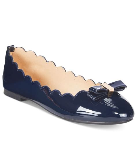 wanted shoes flats wanted scalloped ballet flats in blue lyst