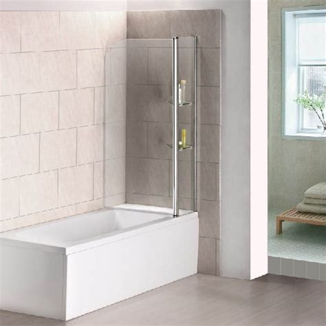 glass shower screen for bath 240 176 pivot 1000x1400mm 6mm glass bath screen shower door panel seal ebay