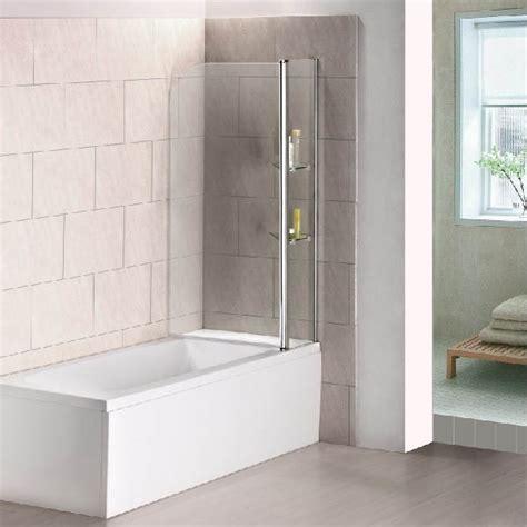 240 176 Pivot 1000x1400mm 6mm Glass Over Bath Screen Shower