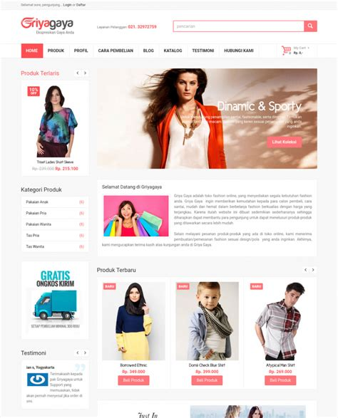 Source Code Ecommerce Dengan Php Dan Mysql Sarjana Komedi Shopping Templates Free In Php