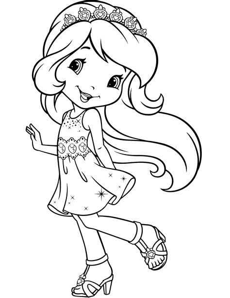 strawberry shortcake coloring pages princess strawberry shortcake princess coloring pages coloring pages