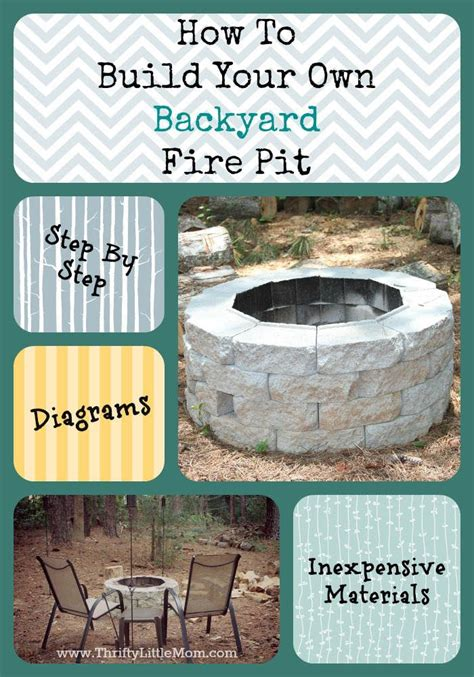 diy pit cheap and easy easy diy inexpensive firepit for backyard