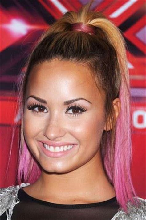 demi lovato inspired pink purple dip dye ombre hair celebrity trend dip dyed ends paperblog