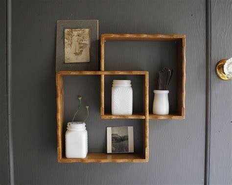 wooden bathroom shelf square shelves cosas de casa pinterest