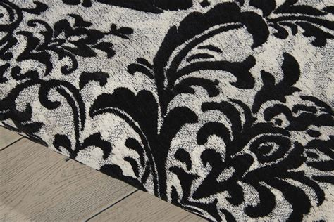 Nourison Damask Das02 Black White Rug Damask Rug