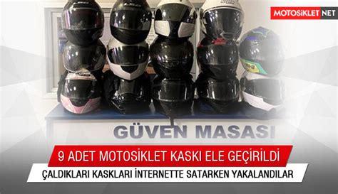 caldiklari motosiklet kasklarini internette satan
