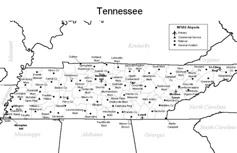 map of tennessee cities tennessee airport map tennessee airports