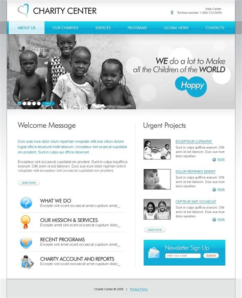 Charity Website Template 26387 Charity Website Templates