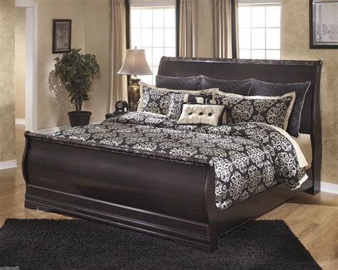 king size bed frame with headboard and footboard attachments elegant king queen size louis philippe sleight bed frame