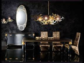 Dining Room Fixtures 15 refined decorating ideas in glittering black and gold