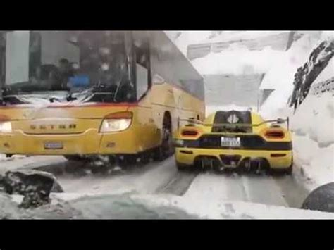 koenigsegg snow koenigsegg agera r yellow snow danger youtube