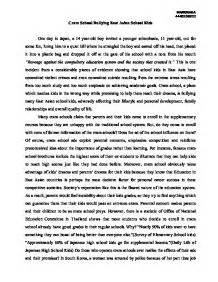 Bully Essay by Speech Essay About Bullying