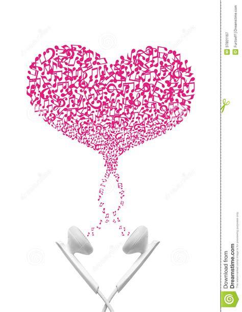 imagenes de notas musicales en forma de corazon auriculares con las notas del coraz 243 n de