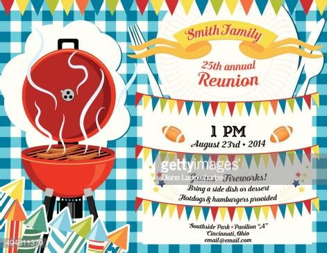 reunion invitation design vector family reunion bbq invitation template vector art getty