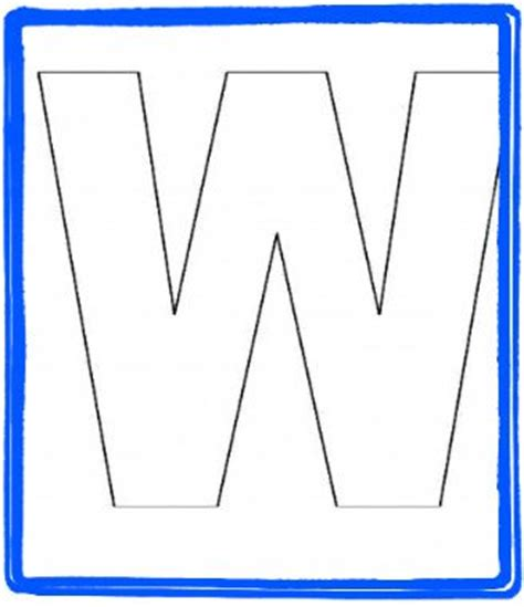 Alphabet Letter W Templates Are Perfect For Preschool And Kindergarten Preschool Ideas The Letter Templates With Pictures