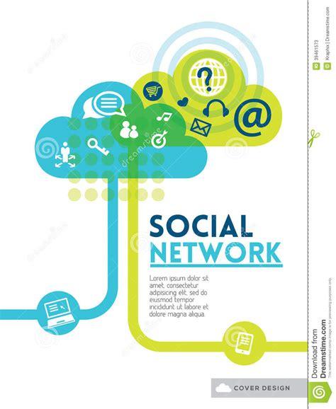 design poster social media cloud social media network concept background design